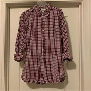 Lucky Brand White Label Fit Plaid Shirt